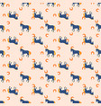horse and horseshoe seamless peach color pattern vector image vector image