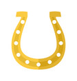 horseshoe cartoon vector image vector image