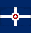indianapolis city flag vector image vector image