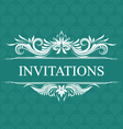 Invitations Wedding Ornamental vector image vector image