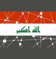 iraq flag concept vector image