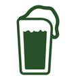 isolated beer icon patrick day vector image vector image
