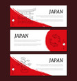 japan horizontal banners templates set card vector image