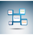 Label diagram of success concept vector image vector image