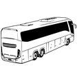 Long-distance Bus vector image