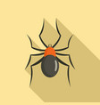 male mouse spider icon flat style vector image