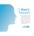 male silhouette man health advertising banner vector image vector image