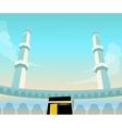 mecca mosque madina islam worship dome minaret vector image vector image