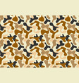 military brown camouflage pattern vector image