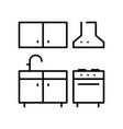 monochrome kitchen icon vector image vector image