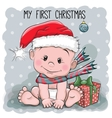 My First Christmas vector image