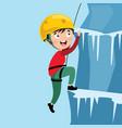 of kid climbing vector image vector image