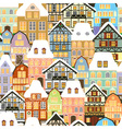 old city pattern vector image vector image