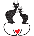 Pair cats vector | Price: 1 Credit (USD $1)