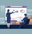 people build a dashboard and interact with graphs vector image vector image