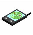 Pocket radar isometric 3d icon vector image vector image