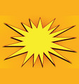 Pop art comic splash orange vector image