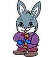 rabbit with candy vector image vector image