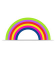 rainbow icon on white background vector image