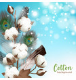 realistic cotton background vector image vector image