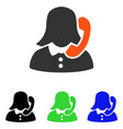 receptionist flat icon vector image vector image