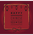 red happy chinese new year greeting card vector image