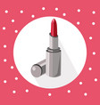 red lipstick icon on retro background summer vector image vector image
