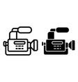 reportage camera line and glyph icon camcorder vector image vector image