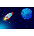 rocket fly in space vector image