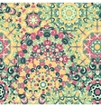 Seamless colorful ethnic pattern with mandalas vector image vector image