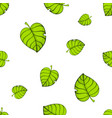 seamless pattern big and small green tree leafs vector image vector image