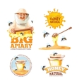 set of Apiary symbols vector image