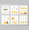 set of colored beer and bar pub elements for vector image vector image