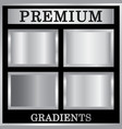 silver gradient backgrounds set silver design vector image vector image