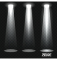 Spotlight shine effects on a dark background vector image vector image