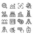 stock market stock exchange icon set in thin vector image