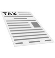 tax form payment icon concept layout template vector image vector image