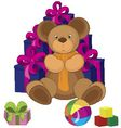 teddy bear toy vector image vector image