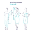 Transformer dresses women clothes and accessories vector image vector image