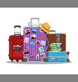 vintage and modern travel bag vector image