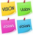 Vision Sticky Note vector image vector image