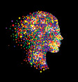woman head on black background vector image vector image