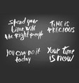 you time is now handwritten lettering vector image