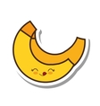 banana fresh fruit kawaii style isolated icon vector image