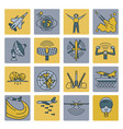 aerospace and defense military aircraft icon set vector image vector image