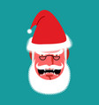 angry santa claus red with anger people grumpy vector image vector image