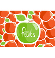 apple background vector image vector image