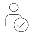 approved candidate thin line icon recruitment and vector image