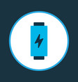 battery icon colored symbol premium quality vector image vector image