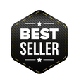 Best Seller black patch vector image vector image